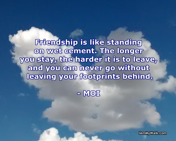 Cloud With Friendship Quote